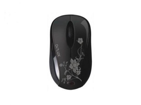 Мишка Delux DLM-350GL+GM01UF Wireless BLACK