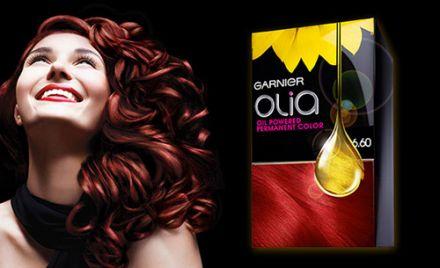 Garnier OLIA боя за коса