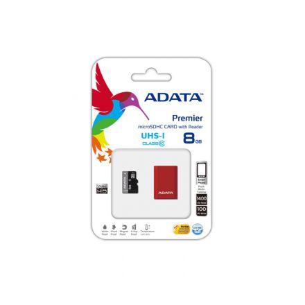 8G SDMIC+READ UHS-I CL10 ADATA