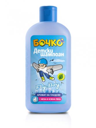 Бочко Fly-Boy-детски шампоан с аромат на плодове-200ml