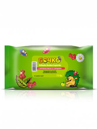 Бочко-Бебешки влажни кърпички с натурално масло от смрадлика-72бр.