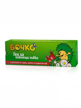 Бочко-Гел за никнещи зъбки,с екстракт от лайка,шипка и градински чай-20ml