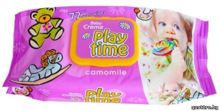 Play Time-Мокри кърпи Лайка-72бр.капак