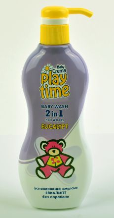 Play Time-Успокояващ измиващ гел 2в1-Евкалипт-400ml