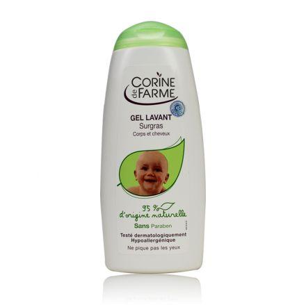 CORINE-Почистващ гел за коса и тяло с масло от сладък бадем-250ml