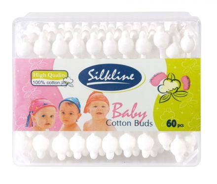Silkine Baby-Клечки за уши с протектор-60бр.