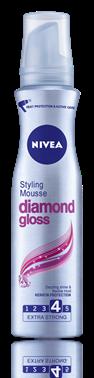 Nivea Diamond Gloss пяна за коса за силна фиксация 150ml