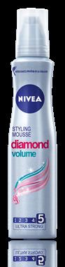Nivea Diamond Volume пяна за коса за ултра силна фиксация 150ml