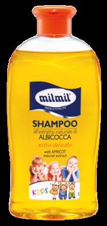 Mil mil Albicocca-Детски шампоан за фина коса с екстракт от кайсия-400ml