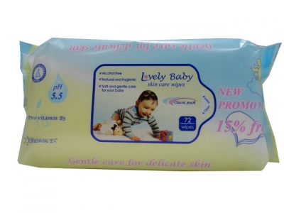 Bebelan Lovely Baby-Мокри кърпи-72бр