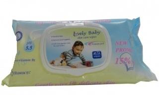 Bebelan Lovely Baby-Мокри кърпи с  екстракт от Лайка-72бр,с капак