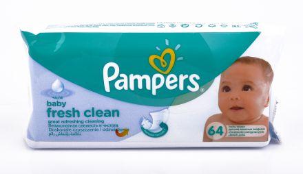 Pampers baby-Fresh clean Aloe Vera-Мокри кърпи с Алое Вера 64бр,