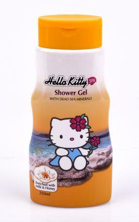 Hello Kitty-Детски ароматен душ-гел за тяло с Мед и Мляко-250ml