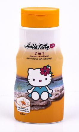 Hello Kitty-Детски ароматен 2в1 шампоан+балсам за коса с мед и мляко-250ml