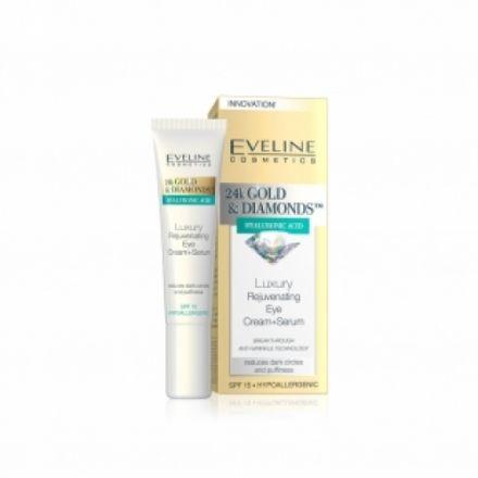 Eveline Gold&Diamonds подмладяващ околоочен крем-серум 15ml