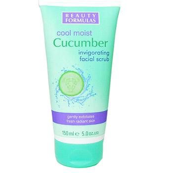 Beauty Formulas Cool Moist Cucumber тонизиращ скраб за лице 150ml