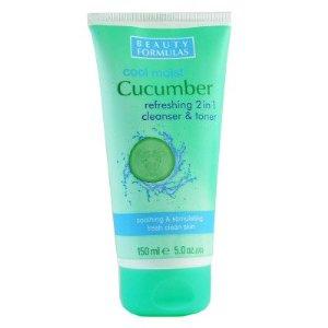 Beauty Formulas Cool Moist Cucumber почистваща емулсия за лице 2в1 150ml