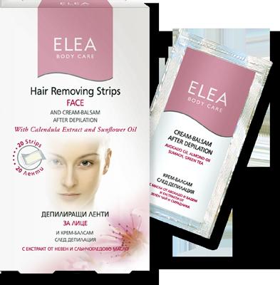 Elea Body Care антиалергични депилиращи ленти за лице 20бр