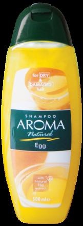 Aroma Natural яйчен шампоан за суха и увредена коса 500ml