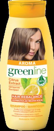 Aroma GreenLine шампоан за нормална до мазна коса с цитрусов екстракт 250ml