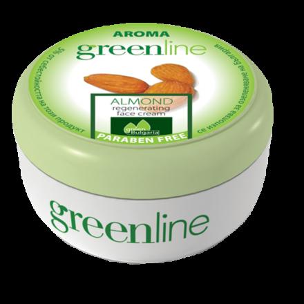 Aroma GreenLine регенериращ крем за лице с бадем 100ml
