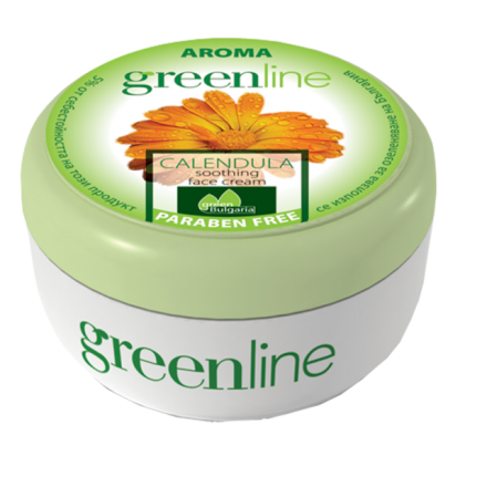 Aroma GreenLine успокояващ крем за лице с невен 100ml