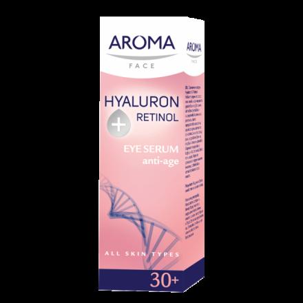 Aroma Face Hyaluron Retinol околоочен серум против бръчки 30+ 15ml