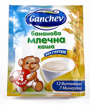 Ganchev-Бананова млечна каша 4+ ,50g