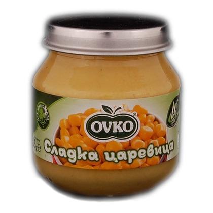 OVKO-Зеленчуково пюре Сладка царевица-125гр, 4+