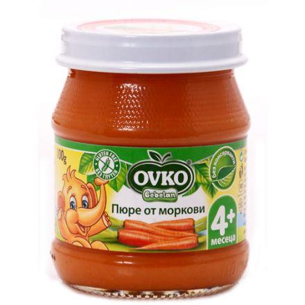 OVKO-Зеленчуково пюре от Морков-100гр, 4+