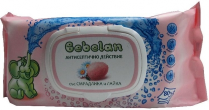 Bebelan-Мокри кърпи със Смрадлика и Лайка 80бр.