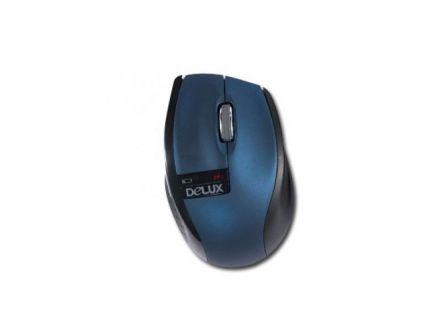 Мишка Delux DLM-526GB+G01UF Dark Blue