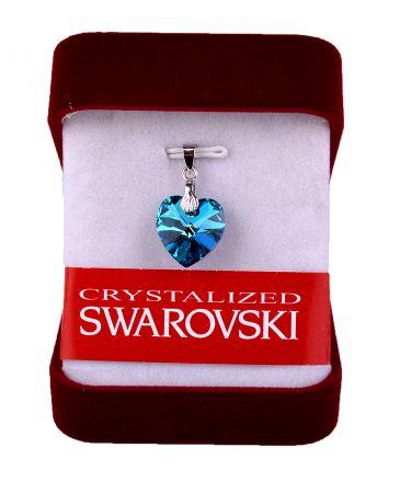 Колие Сърце кристал Сваровски със сребърно захващане