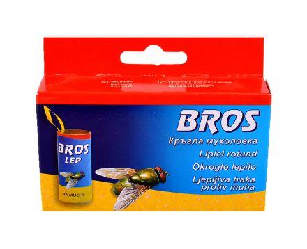 BROS-Кръгла мухоловка ролка с лепило ,4бр