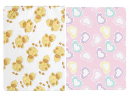 Lorelli-Бебешко одеяло корал 85х110см.